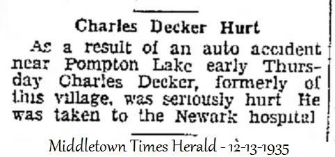 Charles Decker 1935