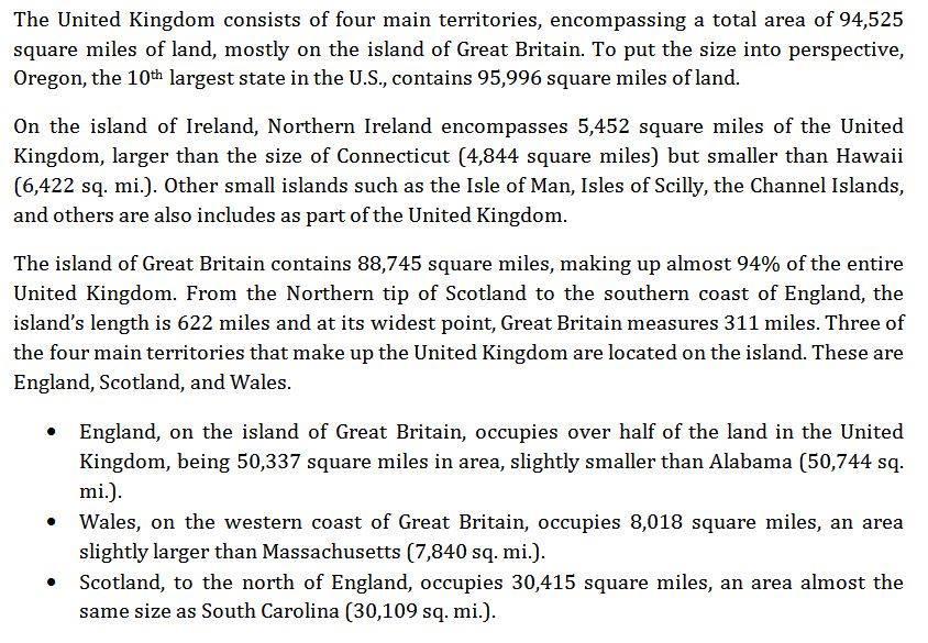 Size of United Kingdom