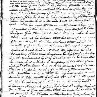 Benjamin Stanton in the Revolution