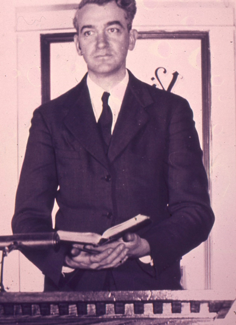William Henry Dickinson at the pulpit