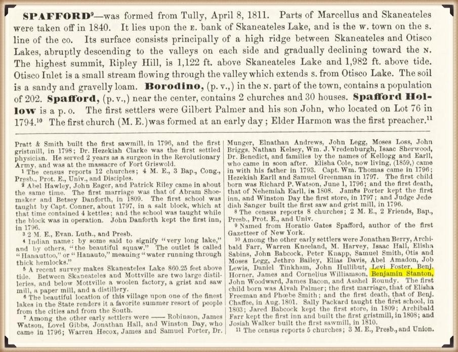 Benjamin Stanton of Spafford Hollow