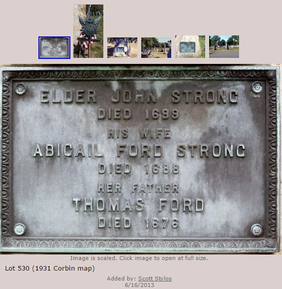 Abigail (Ford) Strong burial