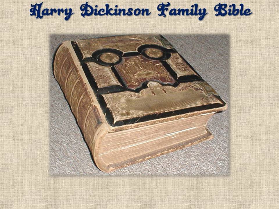 Harry Dickinson family Bible