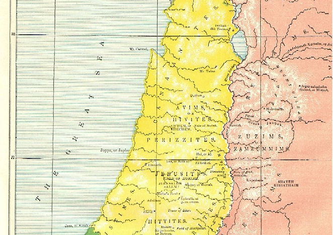 Map II - LAND OF CANAAN DURING THE LIVES OF THE PATRIARCHS