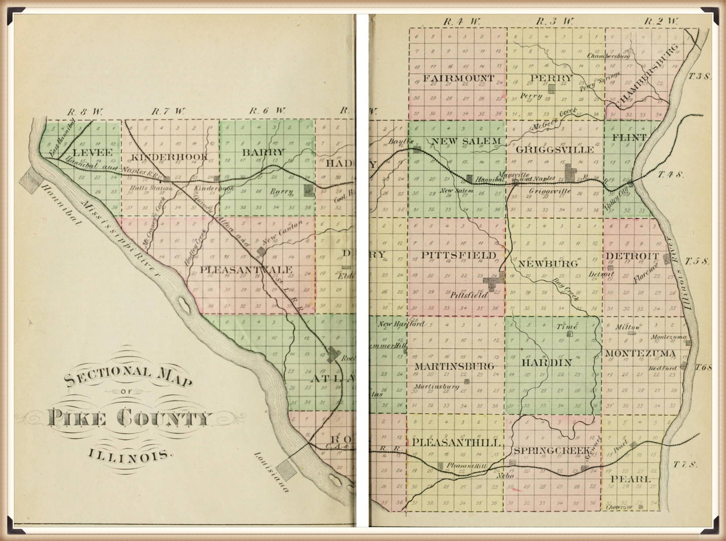 Pike County Illinois sectional map