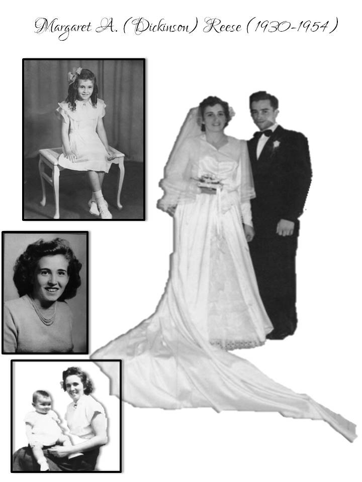 Margaret (Dickinson) Reese life collage