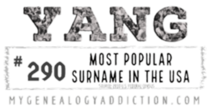 Yang, ranked 290th among the most common surnames in the USA
