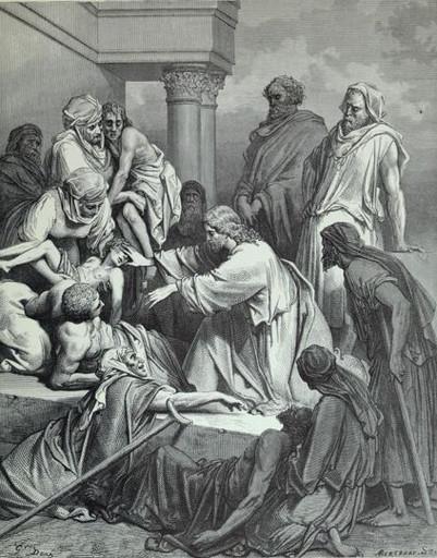 Jesus Cures the Sick People