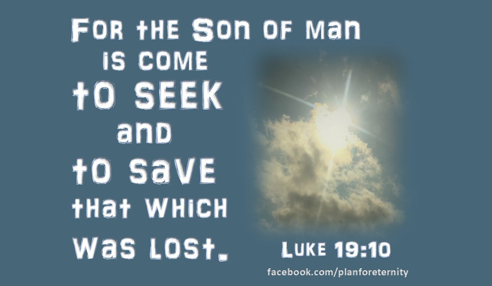Jesus comes to save the lost