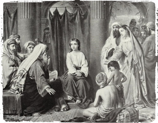 The Child Jesus in the temple