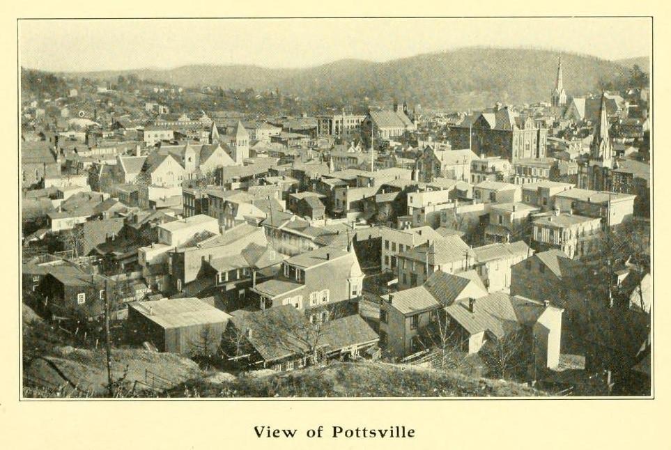 View of Pottsville, Pennsylvania 1906