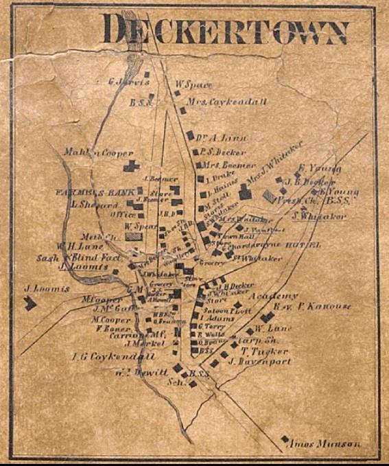 Historic Map Deckertown