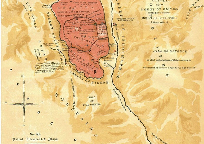 Map XI - ANCIENT JERUSALEM AND THE SURROUNDING DISTRICT