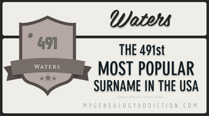 Waters, ranked 491st among the most common surnames in the USA