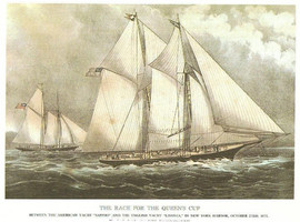 RACE FOR THE QUEEN'S CUP 1871