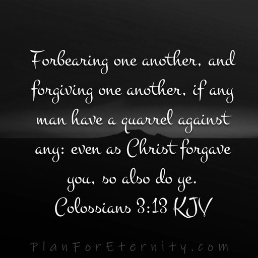 Christ forgives after repentance. We must do the same!