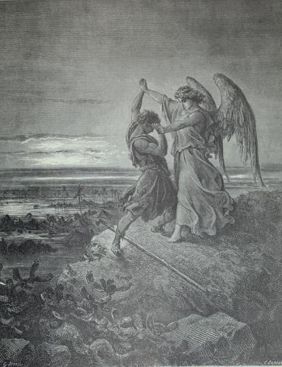 Jacob wrestles an angel