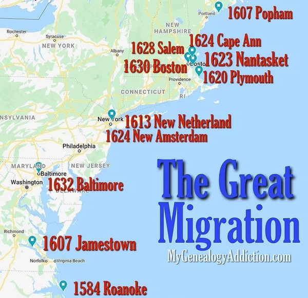 The Great Migration - Colonial America