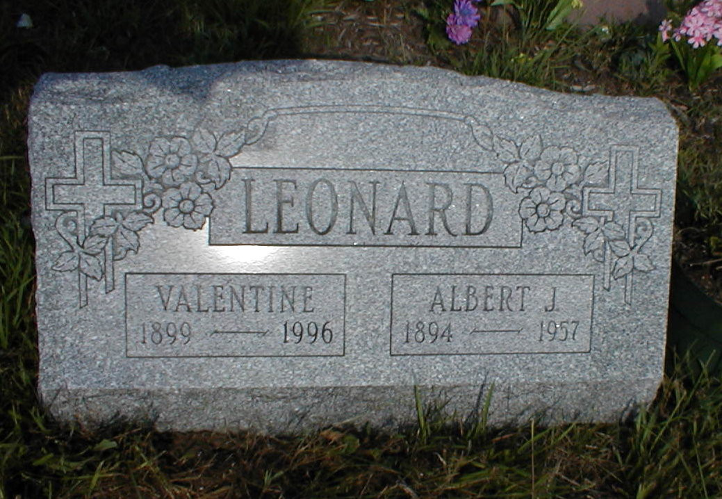 Albert J Leonard burial
