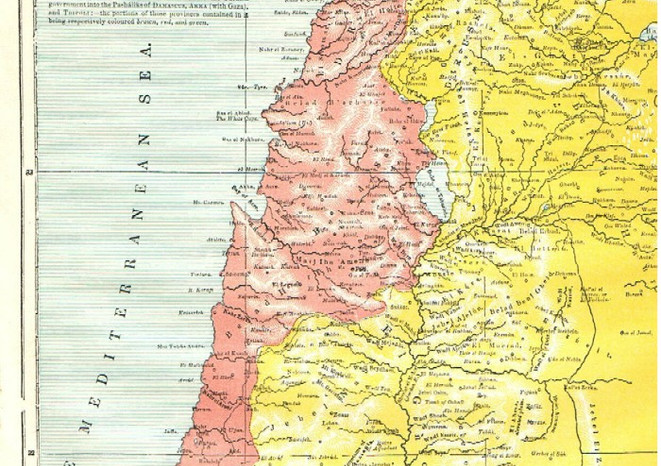 Map XIII - MODERN (1866) PALESTINE, WITH THE ADJACENT PART OF SYRIA