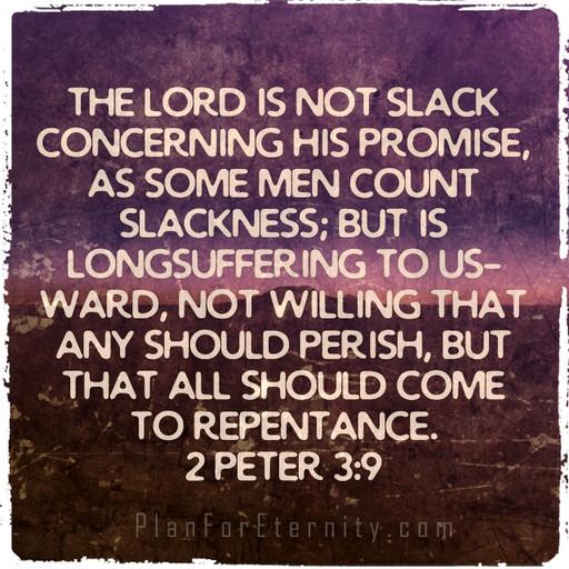 God doesn't want any to perish