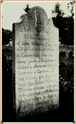 Gov. John Webster burial