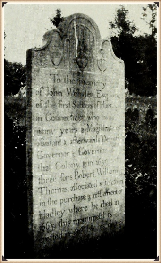 Gov. John Webster burial
