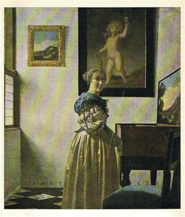 LADY AT A SPINET