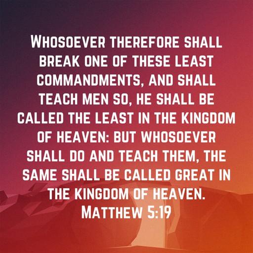 Teach men God's commandments
