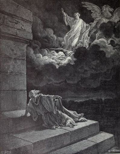 Elijah carried off in a chariot of fire