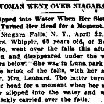 Woman Went Over Niagara