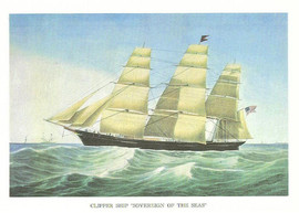 CLIPPER SHIP SOVEREIGN OF THE SEAS