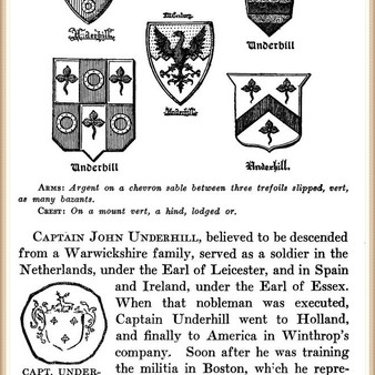 John Underhill in Ancestral Records, Colonial Dames of America