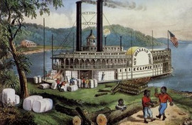 ON THE MISSISSIPPI - LOADING COTTON