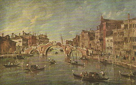 THE CANNAREGIO AND THE THREE ARCHED BRIDGE