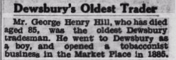George H. Hill dies 1947