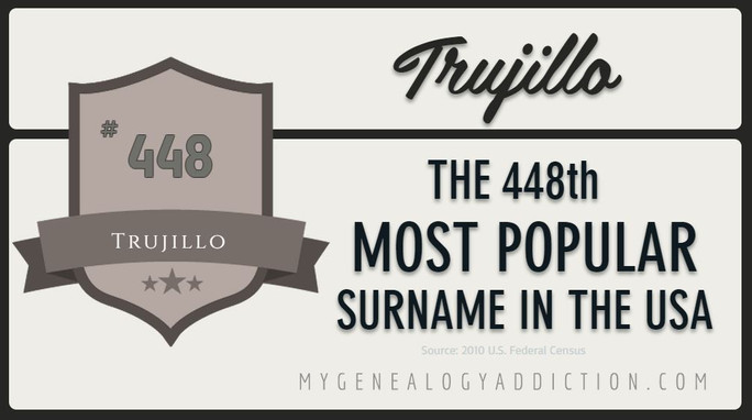 Trujillo, ranked 448th among the most common surnames in the USA