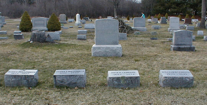 Jasper Hollenbeck family burial plot