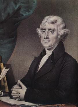 THOMAS JEFFERSON - THIRD PRESIDENT OF THE U.S.