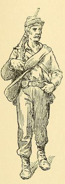 Civil War soldier illustration