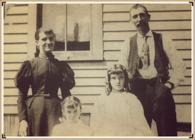 Harry and Annie Dickinson with daughters