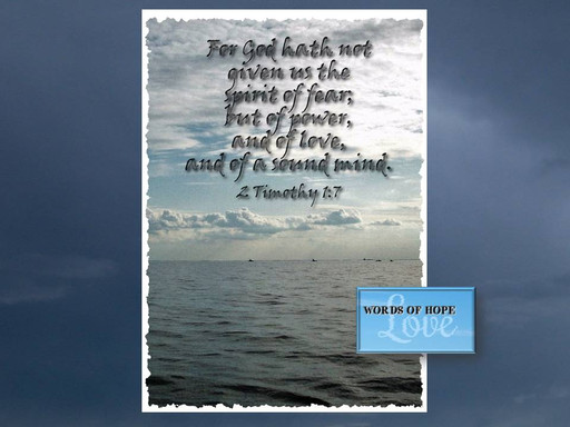 The spirit of fear is not of God
