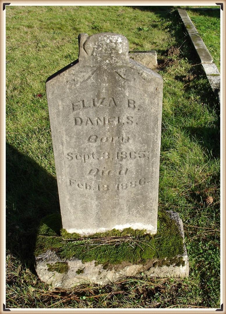 Eliza (Gale) Daniels burial