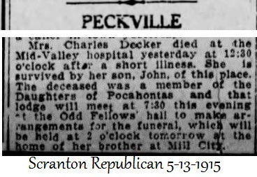 Charles Decker of Peckville, PA