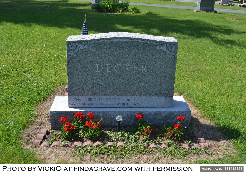 Lydia (Mayo) Decker burial