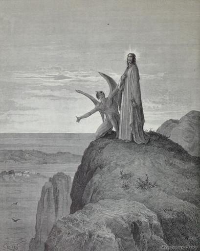 Satan tries to tempt Jesus