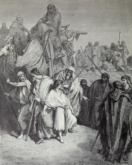 Joseph sold by his brothers for 20 pieces of silver