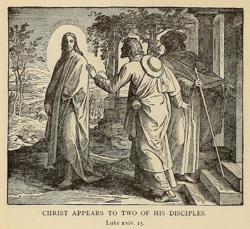 Christ appears to two of his disciples