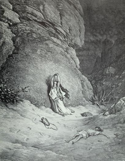 Hagar and Ishmael in the Desert