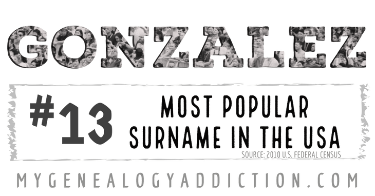 Gonzalez, ranked 13th among the most common surnames in the USA